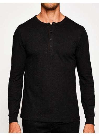 Koton Fermuarlı Kapüşonlu Sweatshirt Siyah